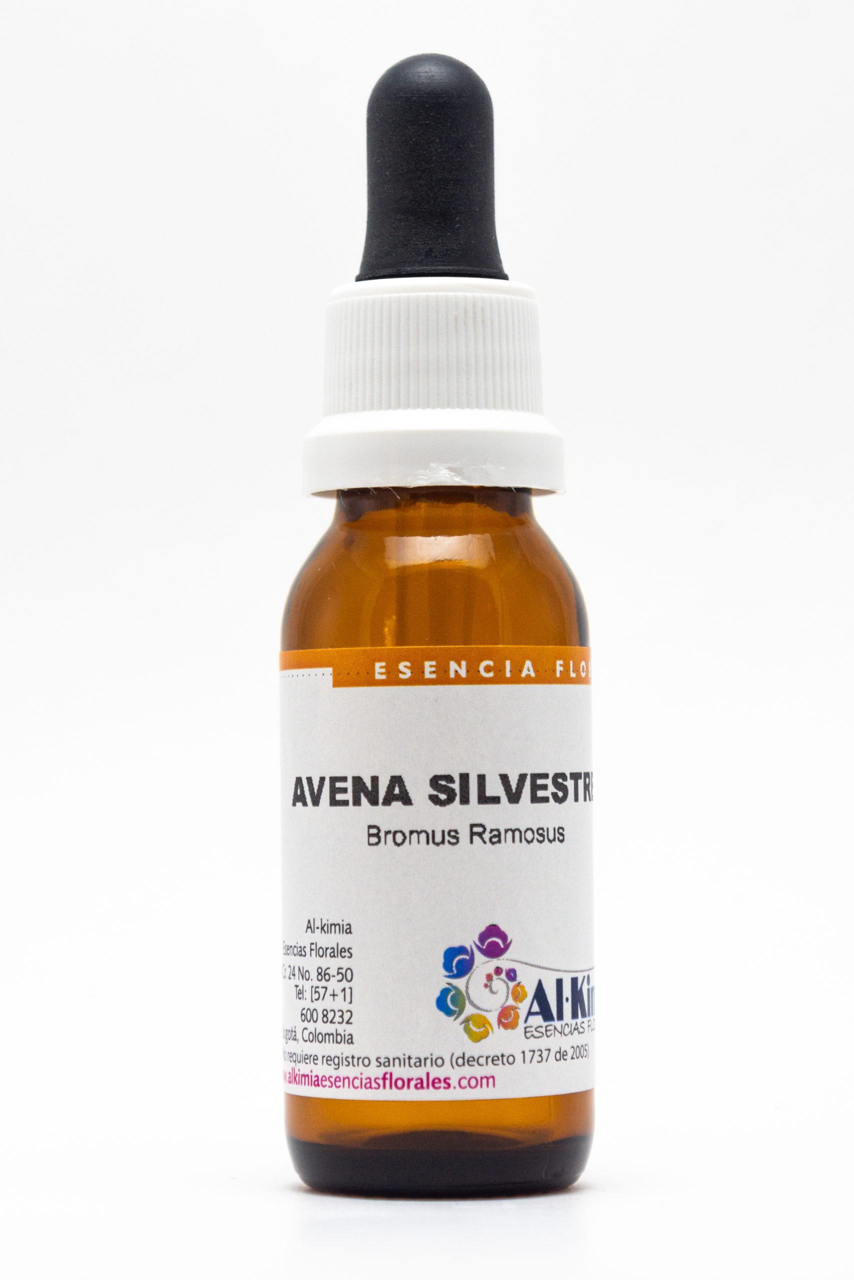 Avena Silvestre Botella Stock